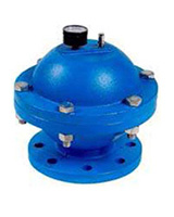 Diaphragm water hammer – cast iron – flanged