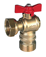 Angle BSP male meter ball valve
