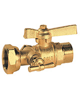 BSP male meter ball valve with drain cock