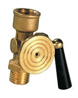 Plug valve for pressure gauge with etalon flange – brass – male/female BSP