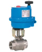 Robinet à boisseau sphérique monobloc inox à moteur électrique 24VAC/VCC