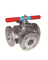3 ways flanged stainless steel ball valve – L port