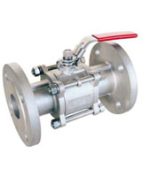 3 pieces body stainless steel flanged ball valve