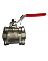 Full bore stainless steel 3 pieces ball valve – Socket welding connection