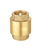 Axial type check valve – brass – female BSP