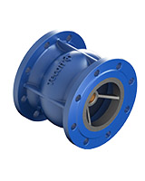 Axial type check valve – cast iron – flanged