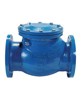 Swing check valve PN10 – metal/metal tightness – cast iron – flanged