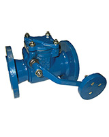 Swing check valve with counterweight – cast iron – flanged