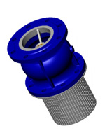 Foot type check valve – cast iron – flanged