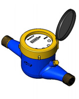 Contador de agua de chorro múltiple para agua fría – latón – macho BSP – ACS