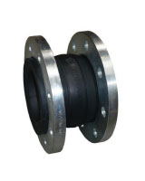 Rubber expansion joint with swivel flanges