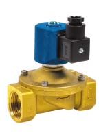 Solenoid valve NC with hardness diaphragm – brass – female BSP