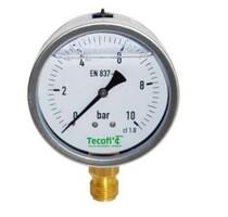 Vertical connection pressure gauge glycerin filled