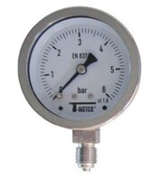 Vertical connection pressure gauge stainless steel casing