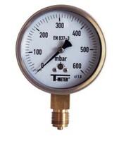 Gas capsule pressure gauge diam.100