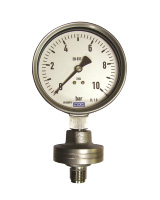 Pressure gauge with diaphragm seal – threaded connection