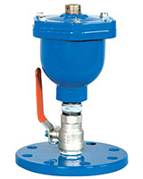 Single effect single chamber air release valve with ball valve PN10/16