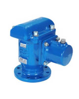 Triple effect double chamber air release valve PN25