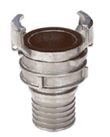 Reduce hose coupling with lock and collar