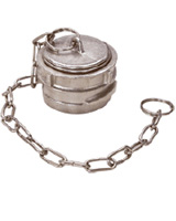 Cap with lock and chain
