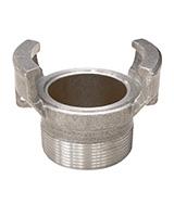 Medio racor aluminio sin bloqueo a racor roscado macho