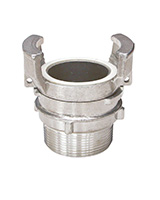 Demi raccord aluminium avec verrou à douille filetée mâle