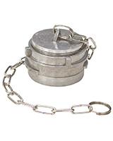 Bouchon à poignée aluminium avec verrou et chainette