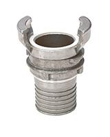Demi raccord aluminium avec verrou à douille annelée