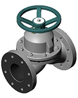 Diaphragm valve – weir type