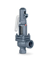 Threaded ends cast iron safety valve PN40