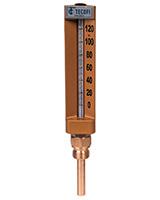 Thermomètre industriel à boitier – modèle droit