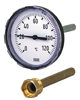 Thermomètre chauffage à cadran – plonge arrière