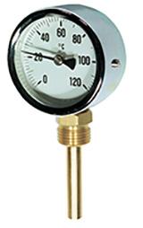 Thermomètre chauffage à cadran – plonge verticale