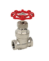Stainless steel gate valve PN16 – female BSP