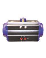 1/4 turn single acting pneumatic actuator