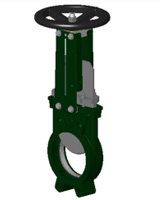 Vanne à guillotine standard – corps fonte – pelle inox 304 – commande par volant tige non montante