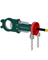 Standard knife gate valve – cast iron body – stainless steel 304 gate – Chainwheel operator