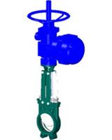 Vanne à guillotine standard – corps fonte – pelle inox 304 – commande par moteur BERNARD