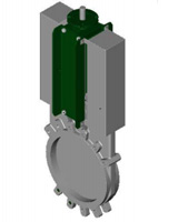 Standard knife gate valve – stainless steel 316 body and gate – rising stem and ISO mounting plate