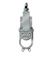 Standard knife gate valve – stainless steel 316 body and gate – square operator on non rising stem