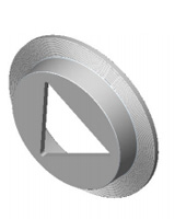 Stainless steel 316 triangular conical deflector