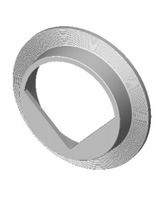 """Stainless steel 316 """"V"""" 90° conical deflector"""