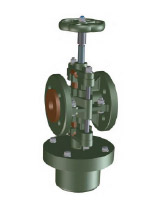 Flanged pinch valve with single acting pneumatic actuator PN10 – normaly open