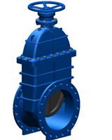 Válvula de cuchilla de caucho PN10/16 – serie corta F4 – comandada por reductor manual