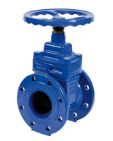 Resilient seat gate valve PN16 – short pattern F4 – NBR