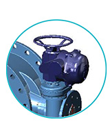 Double flanges butterfly valve PN25 – ductile iron body and disc – BERNARD electric actuator