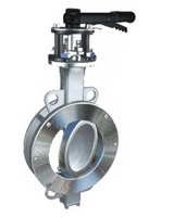 Wafer type butterfly valve double eccentric type ASA150 – steel body – stainless steel disc – lever operator