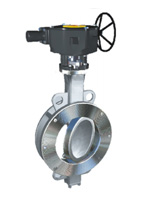 Wafer type butterfly valve double eccentric type ASA150 – steel body – stainless steel disc – gearbox operator