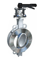 Wafer type butterfly valve double eccentric type ASA150 – stainless steel body and disc – lever operator