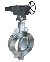Wafer type butterfly valve double eccentric type ASA150 – stainless steel body and disc – gearbox operator